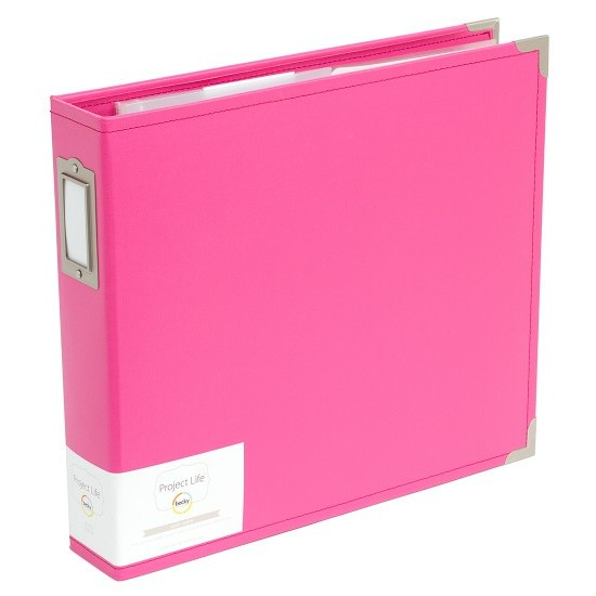 Project Life 12x12 Faux Leather Album-Blush