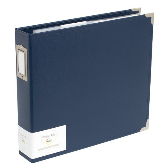 Project Life 12x12 Faux Leather Album-Cobalt