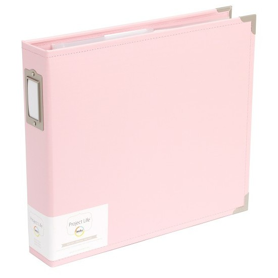 Project Life 12x12 Faux Leather Album-Baby Pink