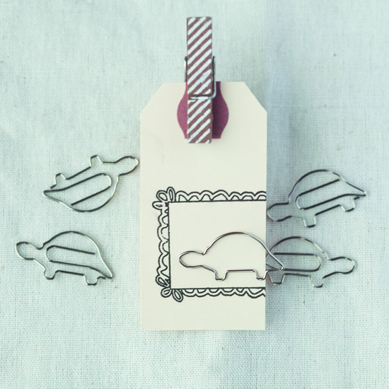 Paper Clips Turtle- Set of 5