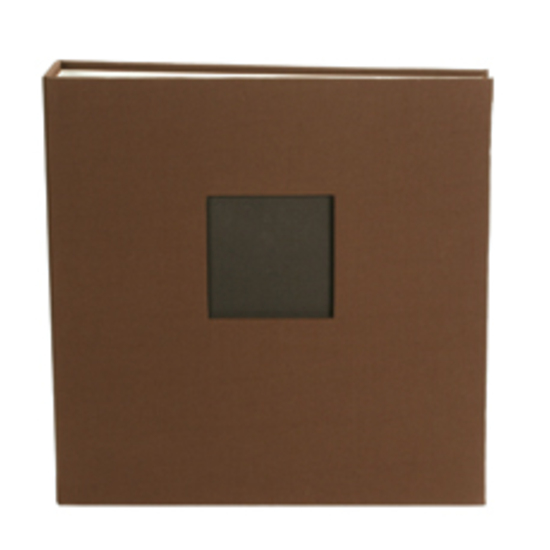 "8.5x11"" Cloth D-Ring Album - Chestnut"