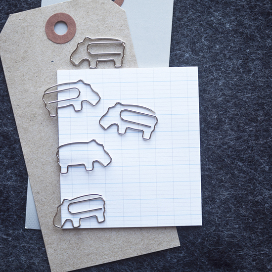 Paper Clips Hippo- Set of 5