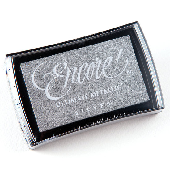 Encore Ultimate Metallic Ink Pad- Silver