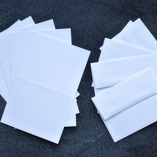 White Card Bases and Envelopes - pack of 5