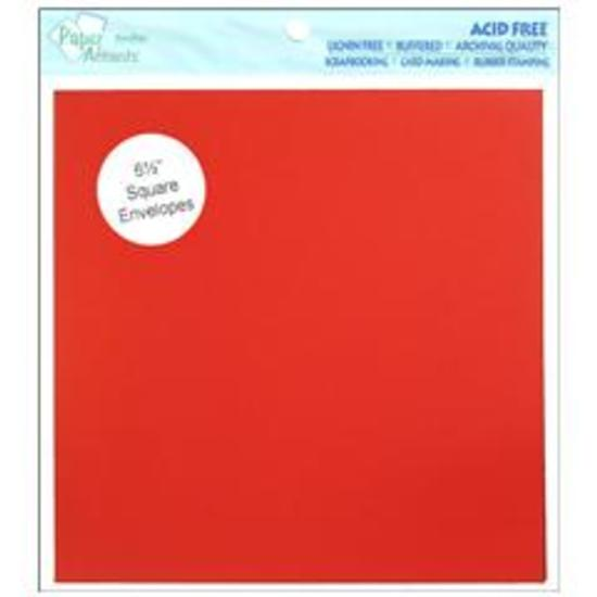 Dark Red Square Envelopes