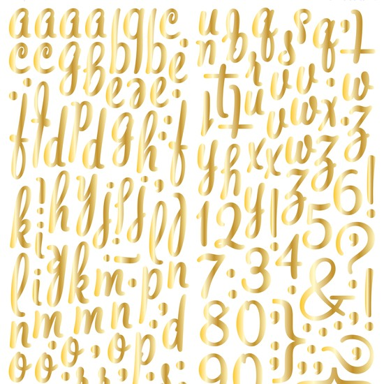 LemonLush Gold Foil Alpha Stickers