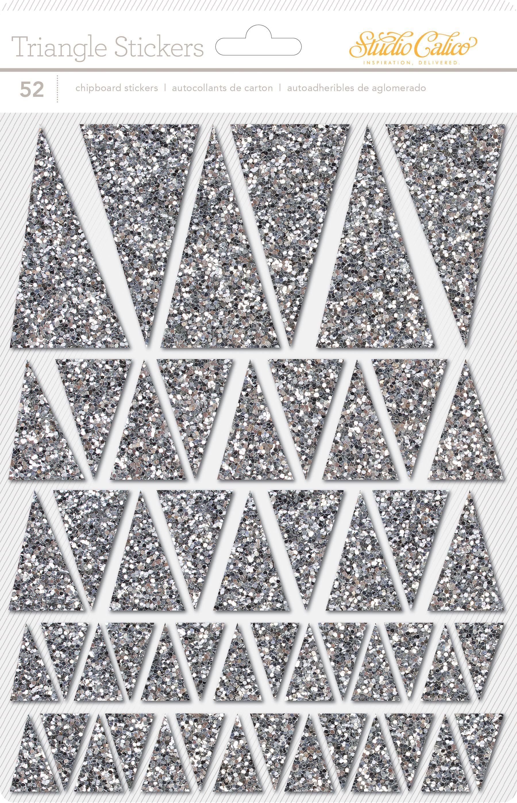 LemonLush Chipboard Thickers - Glitter Triangles