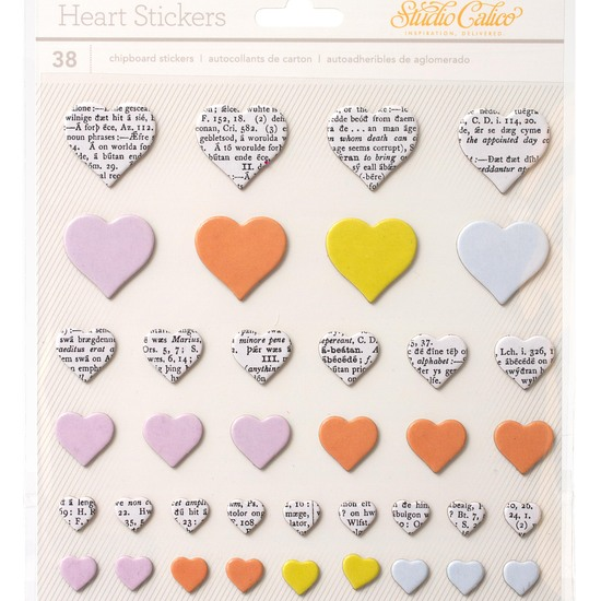 LemonLush Chipboard Thickers - Heart Shaped