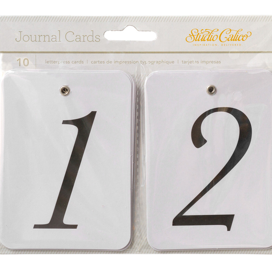 LemonLush Numbered Journal Cards