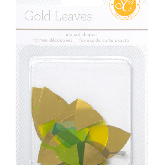 LemonLush Golden Die-Cut Leaves