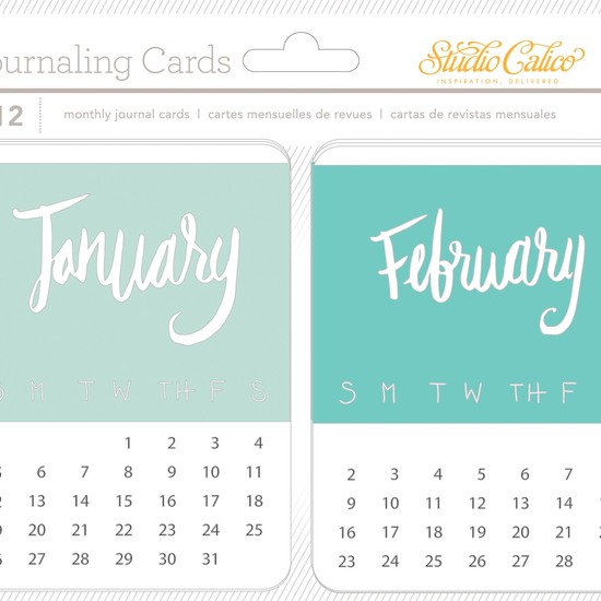 Wanderlust Monthly Journal Cards