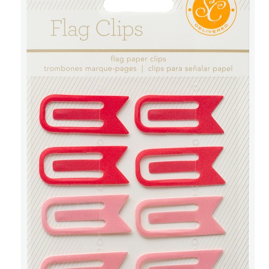 Essentials Flag Clips - Red & Pink