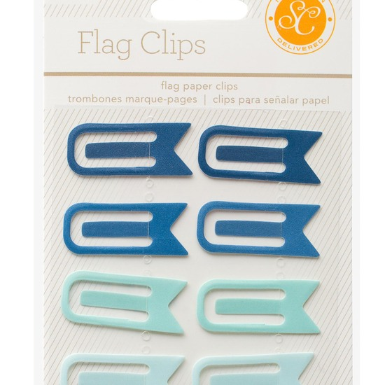 Essentials Flag Clips - Blue & Aqua