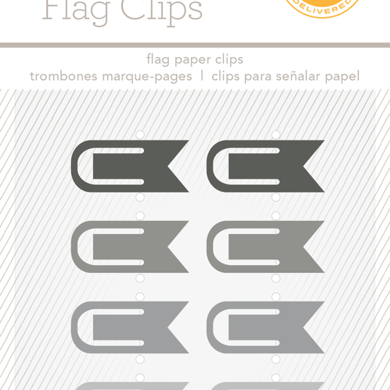 Essentials Flag Clips - Black and Grey