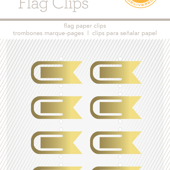 Essentials Flag Clips - Gold