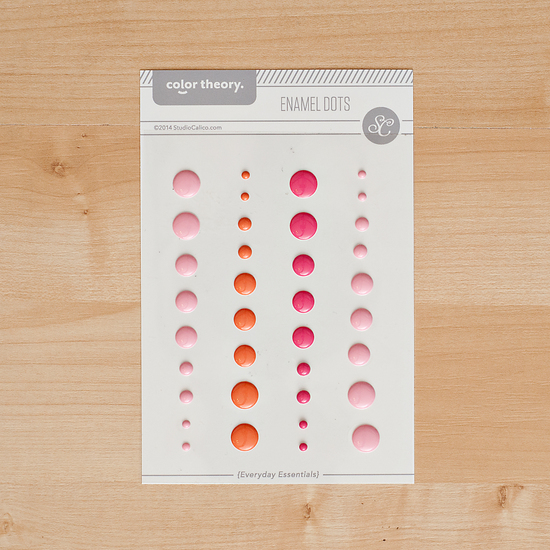 Color Theory Enamel Dots- Pink
