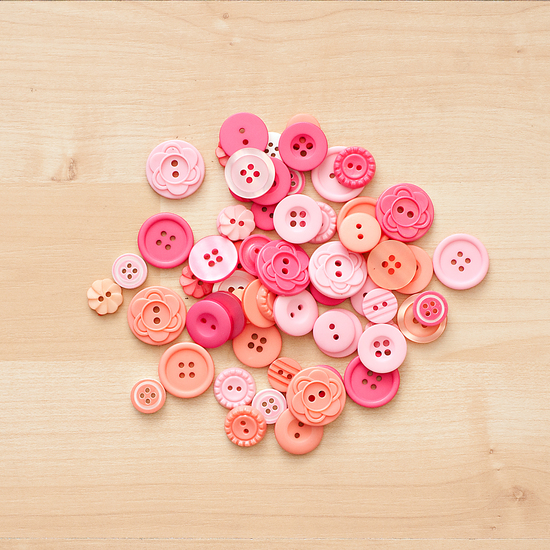 Color Theory Button Mix- Pink