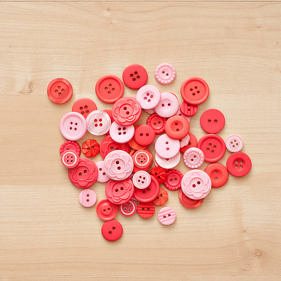 Color Theory Button Mix- Red