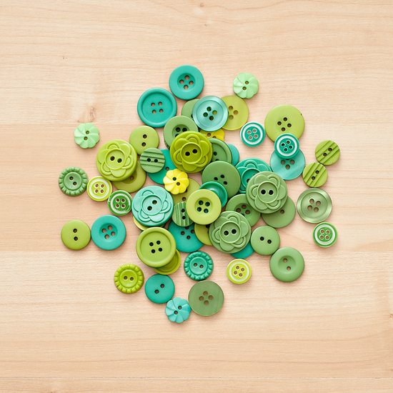 Color Theory Button Mix- Green