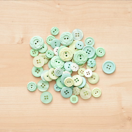 Color Theory Button Mix- Aqua