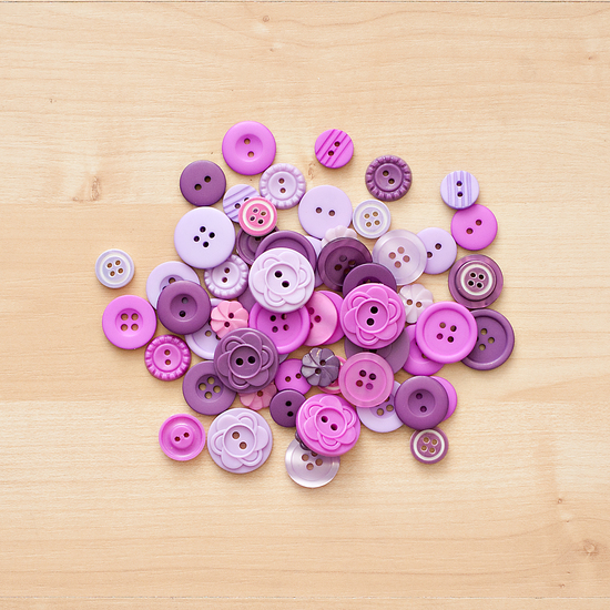 Color Theory Button Mix- Purple