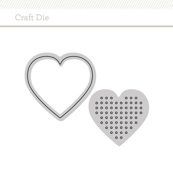 Craft Die: Cross-Stitch Heart