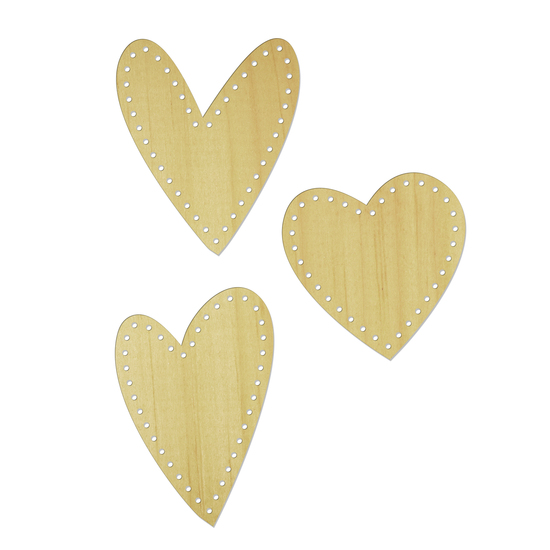 Wood Veneer: Stitched Heart