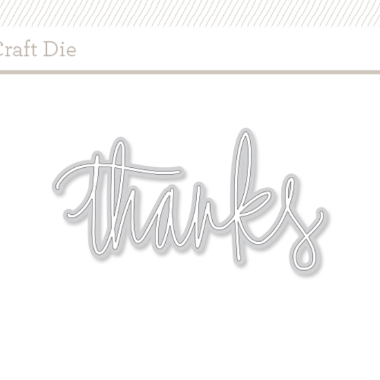 Craft Die: Thanks by Paper Sushi
