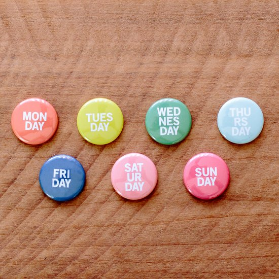 Days of the Week Badge Set