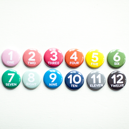 Number Badge Set