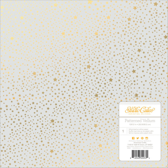 Brighton Pier Gold Stars Patterned Vellum