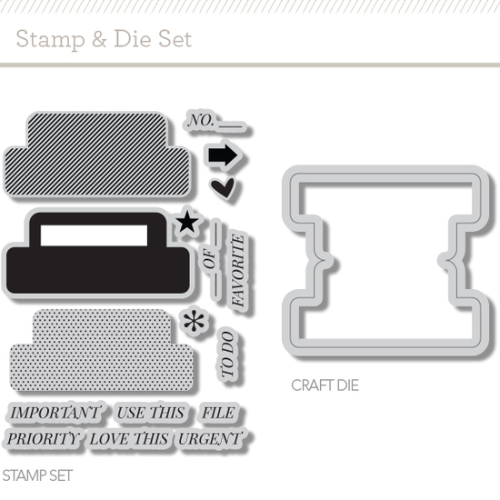 Craft Die & Stamp Set: Tabs by Hello Forever