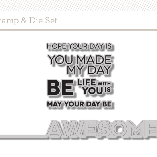 Stamp + Die Set: Be Awesome