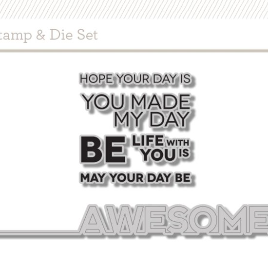 Be Awesome Stamp + Die Set