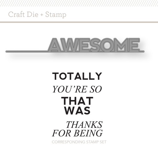 Craft Die & Stamp Set: Totally Awesome