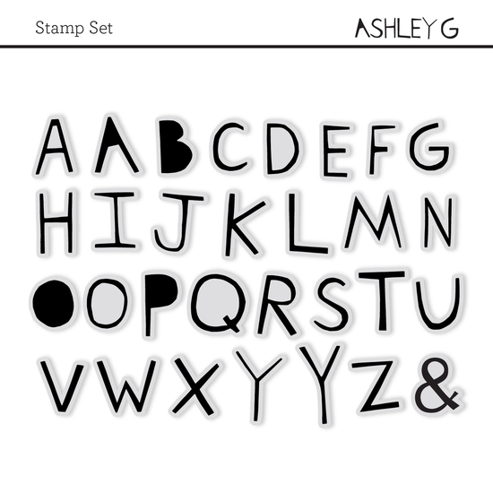 Stamp Set: Alpha Ashley Goldberg