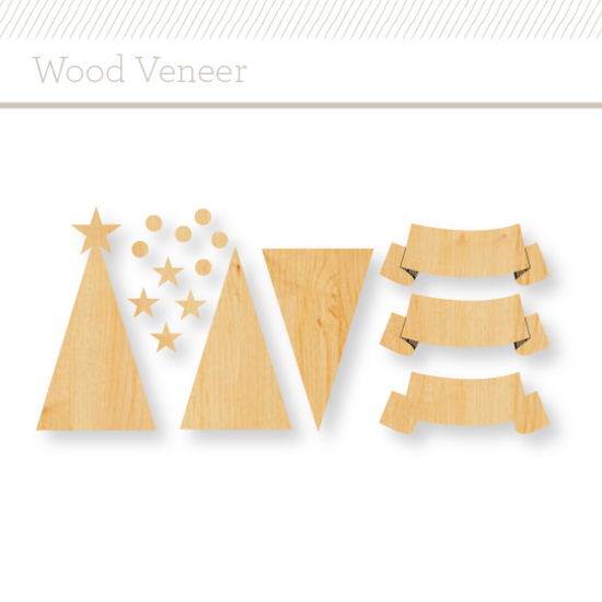 Wood Veneer : Trees and Banners