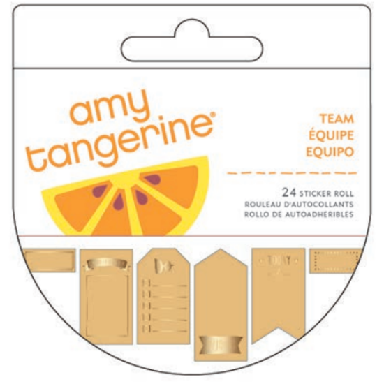 Amy Tangerine Kraft Sticker Roll
