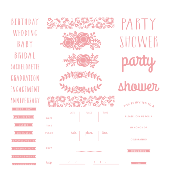 Letterpress Plate: Floral Invite by WRMK