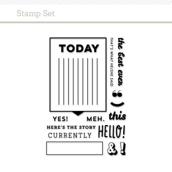 Stamp Set: Speech Bubble