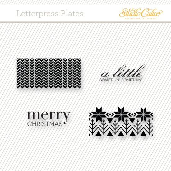 Letterpress Plate: Merry Christmas by Damask Love