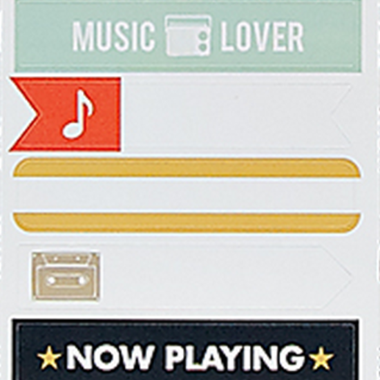 Mini Music Kit Mini Banner Stickers