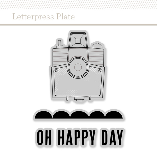 Letterpress Plate: Oh Happy Day