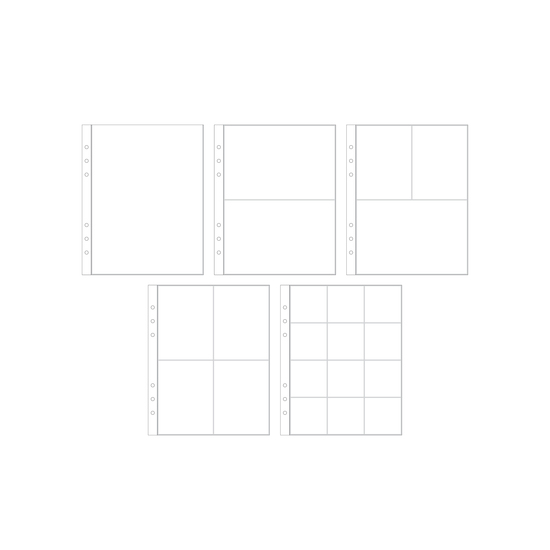 6x8 Multipack Page Protectors