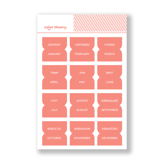 Color Theory Tab Stickers : Coral Bay Monthly
