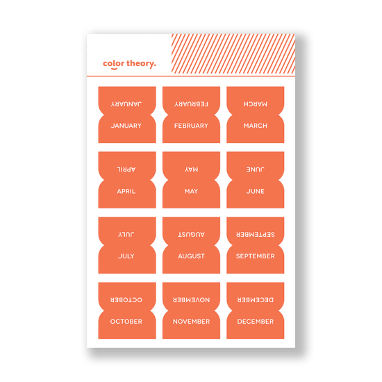 Color Theory Tab Stickers : Orange County Monthly