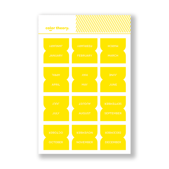 Color Theory Tab Stickers : Sunny Day Monthly