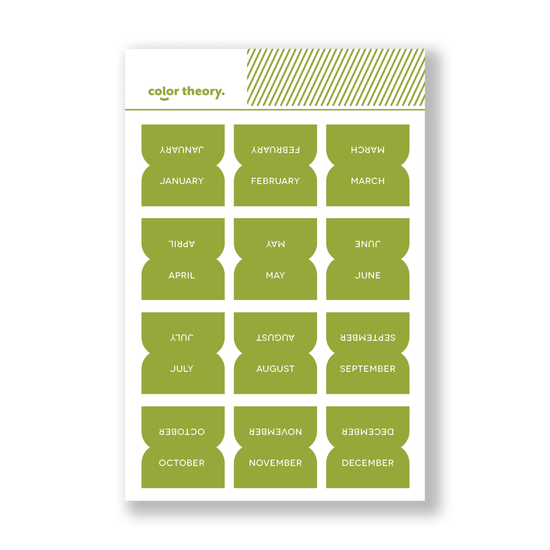 Color Theory Tab Stickers : Lime Light Monthly