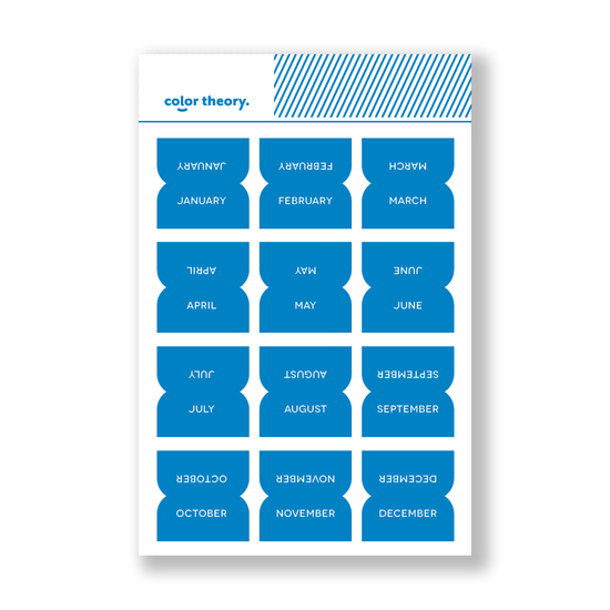 Color Theory Tab Stickers : Something Blue Monthly