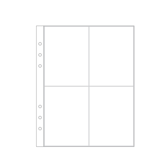 "6x8"" Page Protector 2A (6-ring)"
